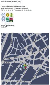 Plan d'accès CNRS